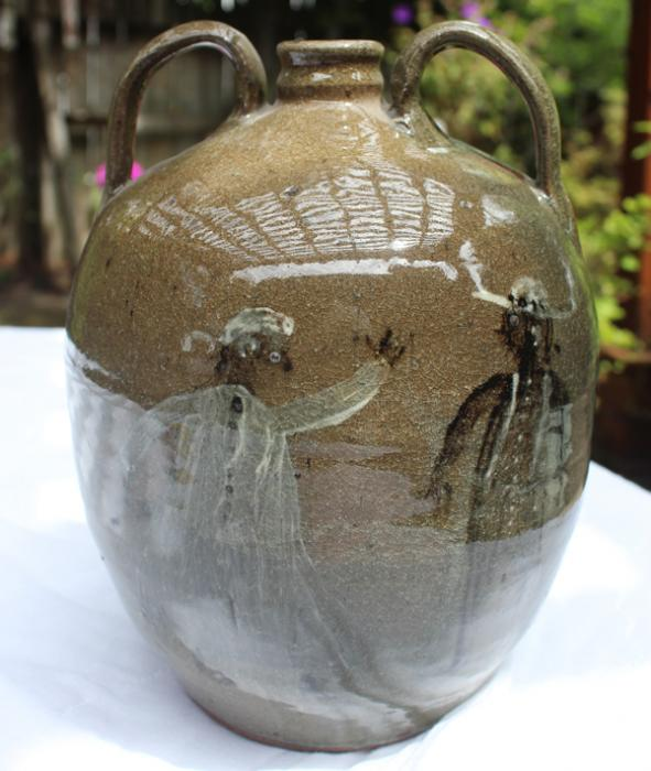 Pictorial Jug by Chester Hewell
